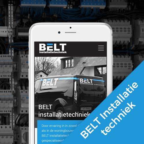 Belt Installatietechniek webdesign